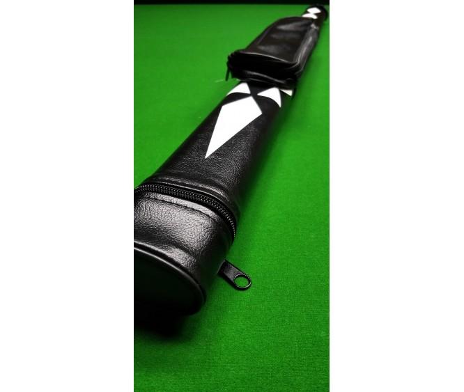 3/4pc Length - Leatherette plain black with white